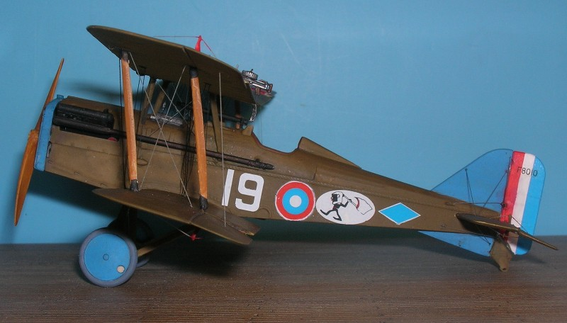 """This one represents an Austin built SE5a F.80010 from """"C"""" flight of 25th Aero Sqdn as flown by Lt. Joseph E. Boudwin in late 1918."""