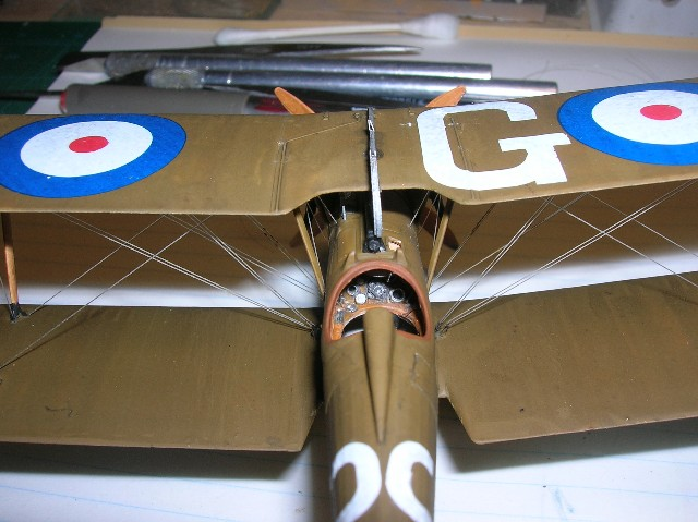 """This is the Roden 1/48 SE5a  kit #416  marked as the machine C.1149 as flown by Capt. Grinnell-Milne while he served with and commanded RAF #56 Sqdn.  After hostilities he had his machine's fuselage painted red.  The name """"Schweinhund"""" recalled the days when Grinnell-Milne was a POW in 1915."""